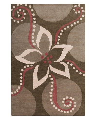 Filament Dollie Rug, Brown/Burgundy, 5' x 7' 6""