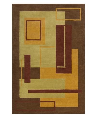 Filament Joline Rug, Brown/Green, 5' x 7' 6'