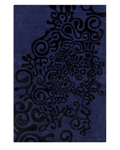 Filament Victor Hand-Tufted Rug, Blue, 5' x 7' 6