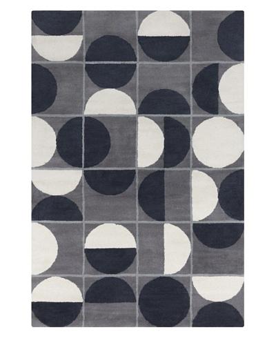 Filament Christiane Hand-Tufted Wool Rug, Grey/Black, 5' x 7' 6