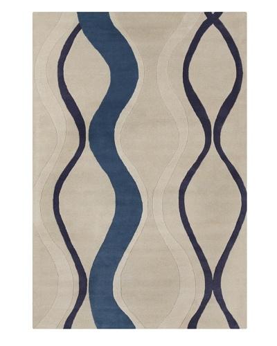 Filament Dorinda Rug, Blue/White, 5' x 7' 6'