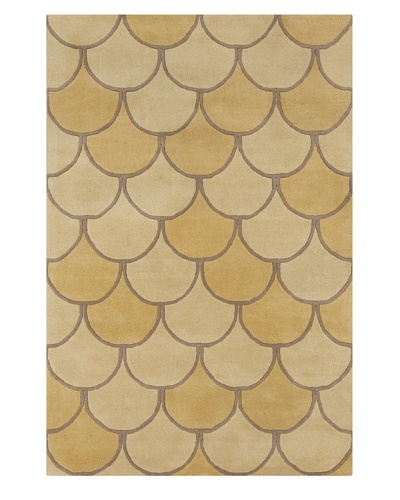 Filament Maura Hand-Tufted Wool Rug, Gold, 5' x 7' 6""