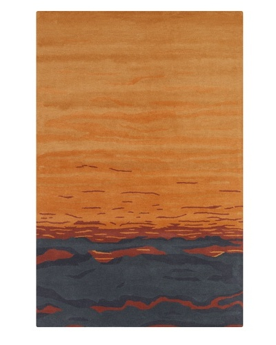 Filament Pamila Rug, Blue/Orange, 5' x 7' 6'