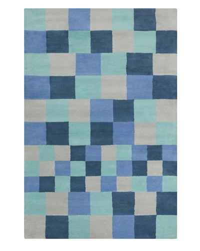 Filament Nickole Hand-Tufted Wool Rug, Blue, 5' x 7' 6