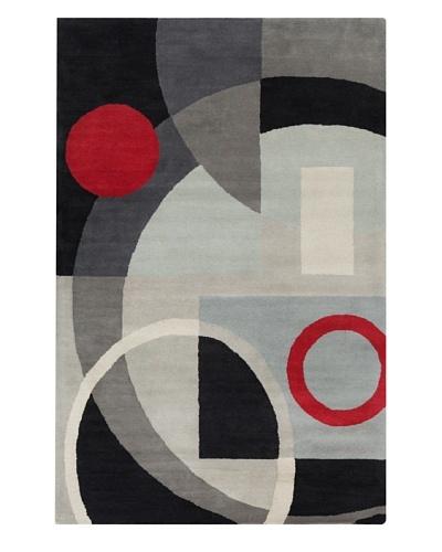 Filament Claudio Rug, Grey/Black, 5' x 7' 6'