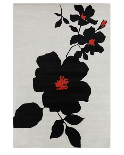Filament Dinah Rug, Black/Red, 5' x 7' 6