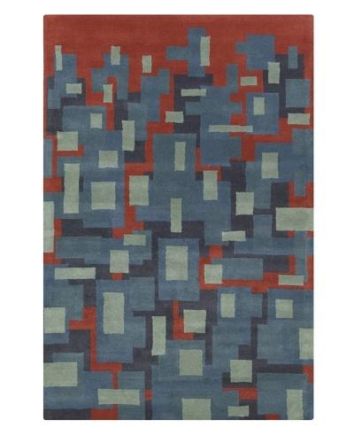 Filament Blaine Rug, Blue/Red, 5' x 7' 6'