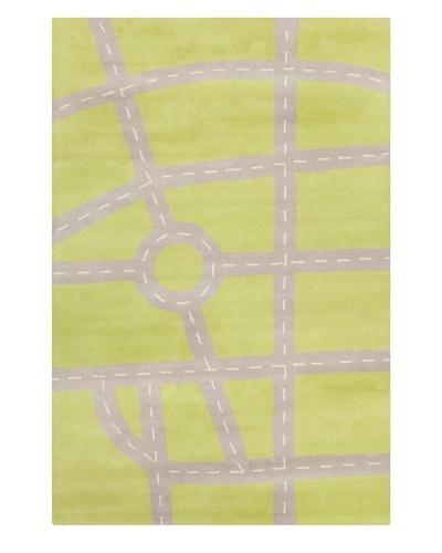 Filament Monika Rug, Green/Grey, 5' x 7' 6'