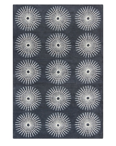Filament Pearly Hand-Tufted Wool Rug, Grey, 5' x 7' 6