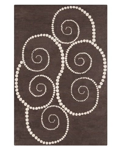 Filament Cooper Hand-Tufted Rug, Brown, 5' x 7' 6