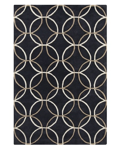 Filament Charlesetta Hand-Tufted Wool Rug, Dark Grey/Brown, 5' x 7' 6
