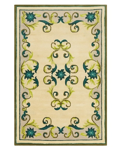 Filament Hudsib Hand-Tufted Rug, Green/Blue, 5' x 7' 6