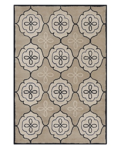 Filament Irish Hand-Tufted Wool Rug, Light Brown, 5' x 7' 6