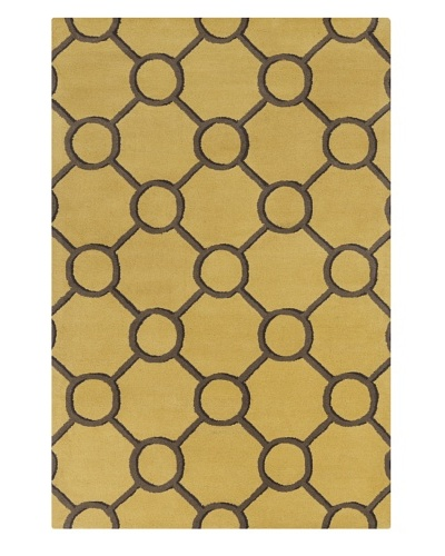 Filament Ariel Hand-Tufted Wool Rug, Gold, 5' x 7' 6""