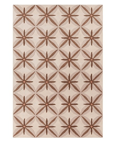 Filament Meghann Hand-Tufted Wool Rug, Brown, 5' x 7' 6