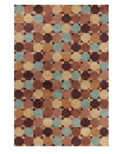 Filament Renaldo Rug, Brown/Blue, 5' x 7' 6'