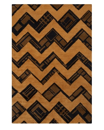 Filament Gaylene Hand-Tufted Wool Rug, Brown, 5' x 7' 6