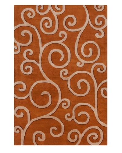 Filament Caroline Hand-Tufted Rug, Orange, 5' x 7' 6