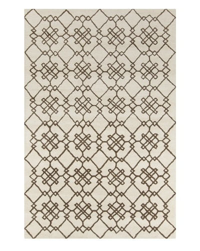 Filament Crystal Hand-Tufted Wool Rug, Cream/Brown, 5' x 7' 6
