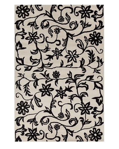 Filament Camila Hand-Tufted Rug, Black/White, 5' x 7' 6