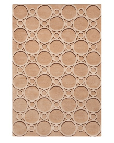 Filament Karry Hand-Tufted Wool Rug, Light Brown, 5' x 7' 6