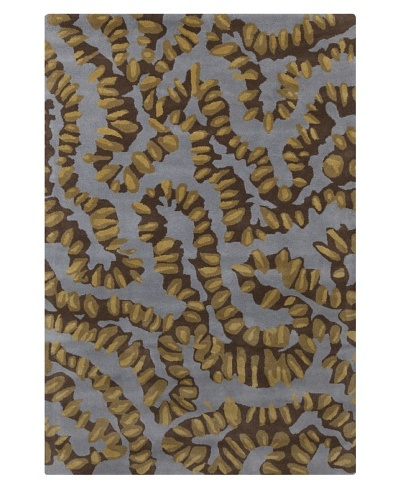 Filament Colin Rug, Blue/Brown, 5' x 7' 6'