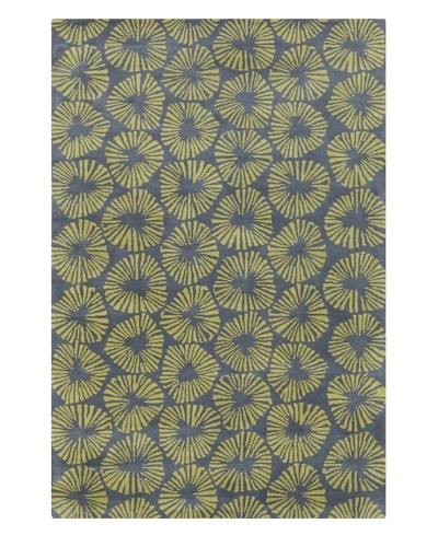 Filament Julio Rug, Grey/Green, 5' x 7' 6'