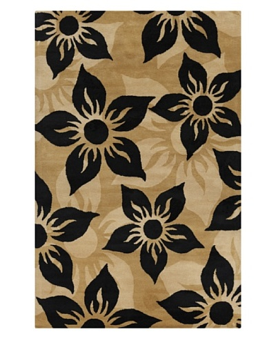 Filament Gwyn Rug, Black/Tan, 5' x 7' 6