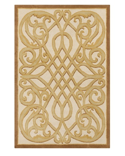 Filament Dominic Hand-Tufted Rug, Light Brown/Cream, 5' x 7' 6