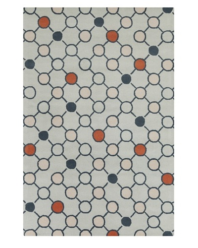 Filament Cecily Hand-Tufted Wool Rug, Blue, 5' x 7' 6