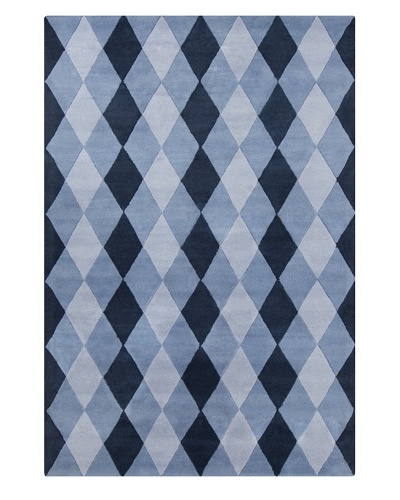 Filament Alishia Hand-Tufted Wool Rug, Blue, 5' x 7' 6""