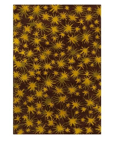 Filament Aurelia Rug, Brown/Yellow, 5' x 7' 6'