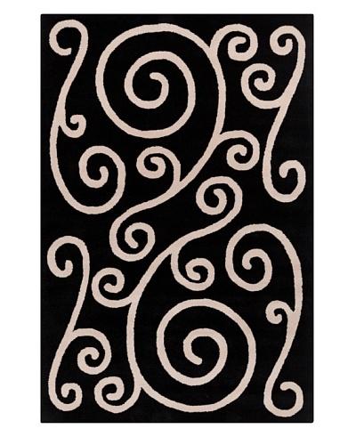 Filament Autumn Hand-Tufted Rug, Black/Cream, 5' x 7' 6