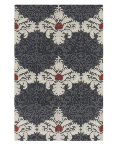 Filament Thaddeus Hand-Tufted Rug, Grey/Red, 5' x 7' 6