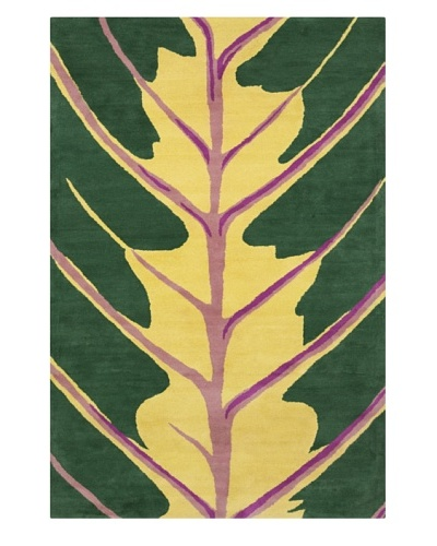 "Filament Coreen Rug, Green/Yellow, 5' x 7' 6""'"