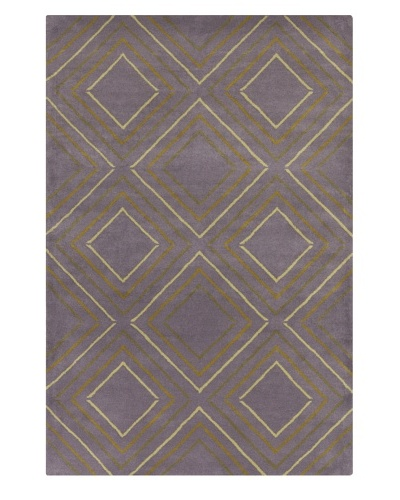 Filament Cruz Hand-Tufted Wool Rug, Purple, 5' x 7' 6