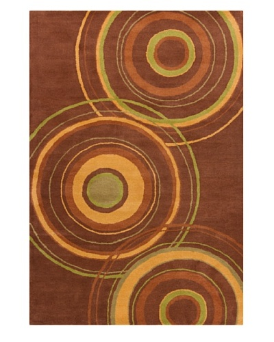 "Filament Karey Hand-Tufted Wool Rug, Brown, 5' x 7' 6"""