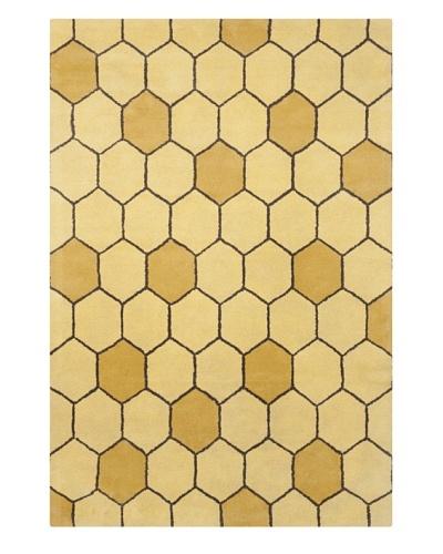 Filament Davida Hand-Tufted Wool Rug, Gold, 5' x 7' 6