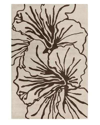"Filament Sadye Rug, Brown/Cream, 5' x 7' 6"""