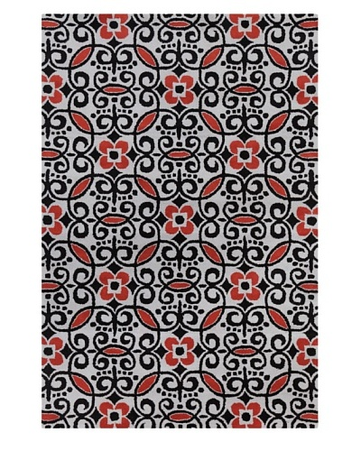 Filament Shiloh Hand-Tufted Rug, Black/Red, 5' x 7' 6""