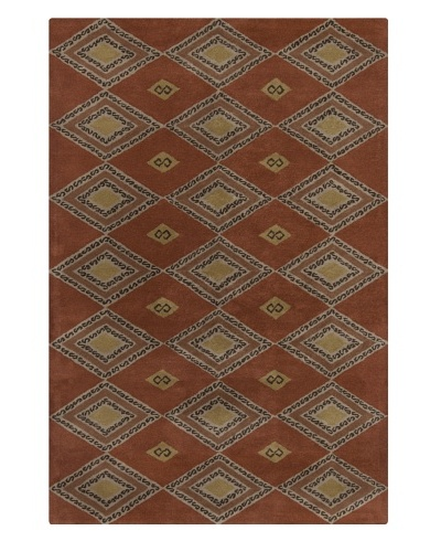 Filament Keeley Hand-Tufted Wool Rug, Brown, 5' x 7' 6