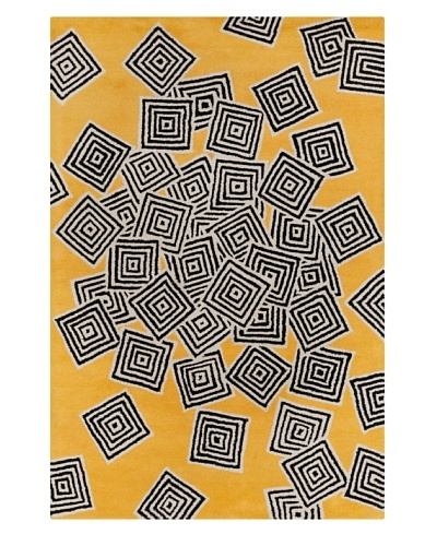 Filament Vonda Hand-Tufted Wool Rug, Yellow, 5' x 7' 6""