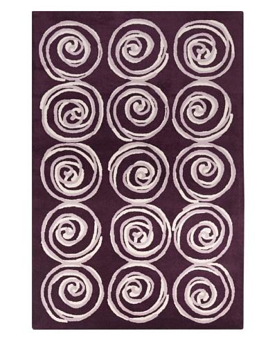 Filament Roxann Hand-Tufted Wool Rug, Purple, 5' x 7' 6