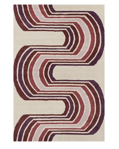 Filament Pamula Rug, White/Purple, 5' x 7' 6'