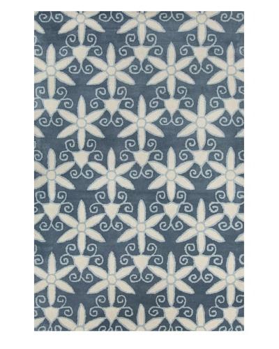 Filament Sydney Hand-Tufted Wool Rug, Blue, 5' x 7' 6