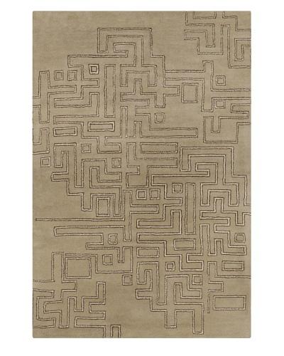 Filament John Hand-Tufted Wool Rug, Brown, 5' x 7' 6