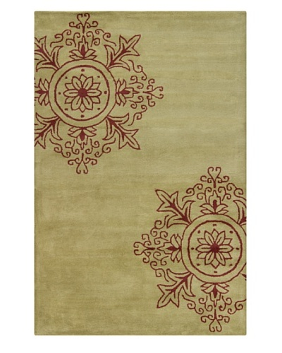 Filament Claire Hand-Tufted Rug, Burgundy/Green, 5' x 7' 6