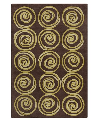 Filament Celena Hand-Tufted Wool Rug, Brown/Green, 5' x 7' 6