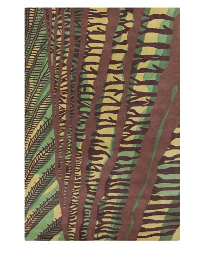 Filament Freddie Rug, Green/Brown, 5' x 7' 6'