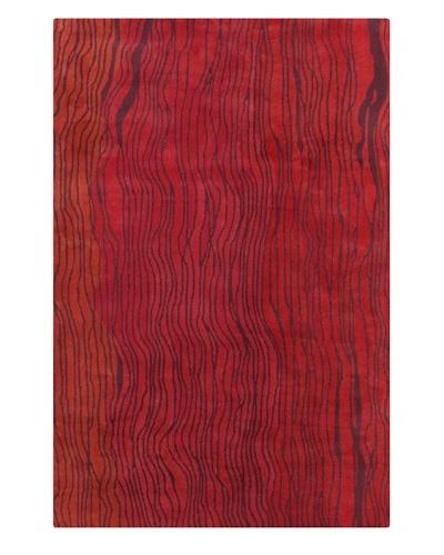 Filament Nada Rug, Red/Orange, 5' x 7' 6'